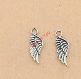 Antique Silver Tone Angel Wings Charm Pendant Jewelry Diy Jewelry Making Handmade 21x9mm jewelry making