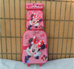 Canada Gros-New Minnie bagages 16inch fixe 3D roue valise Voyage (boîte à lunch + boîtes de stylo + bagages chariot) EVA valise trolley trolley luggage case suitcase for sale Offre