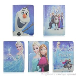 Wholesale Universal Adjustable Frozen Elsa Anna PU Leather Stand Case Cover For inch Tablet PC MID Samsung Galaxy Tab iPad Mini Air
