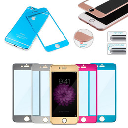 For iphone 6 Titanium alloy Explosion-proof Glass protection film color Tempered glass Full screen Radian protector for iphone 6 plus E