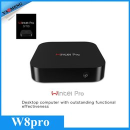 Wholesale DHL Free NEW Wintel Pro CX W8 TV Box Windows Z8300 Quad core GHz WiFi Bluetooth GB GB Set top Boxes Smart Media Player
