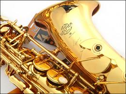 Wholesale DHL shipping France Selmer E flat alto saxophone musical instrument electrophoresis gold professional