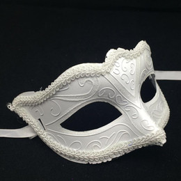 White Masks Venetian Masquerade Party Mask Christmas Gift Mardi Gras Man Costume Half Face Sexy Woman dance Mask Halloween Costume