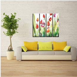 Hand-painted High Quality Modern Abstract Flowers Oil Painting On Canvas Handmade Abstract Flower Painting For Home Decoration