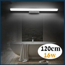 1200mm long led bathroom mirror light 85-265V 16W LED bedroom vanity mirror lamp foyer study wall sconce