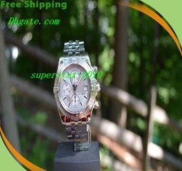 Wholesale NEW Top Quality Luxury Watches Equipped original box Brand BB Chronomat Evolution Windrider A13356 Chrono Men s Watch Silver Dial Mens