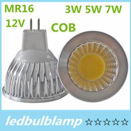 10PCS COB MR16 3W 5W 7W Dimmable 12V ampoule LED Warm Cool MR16 LED lampe LED 120 faisceau angle LED lumière à partir de mr16 blanc chaud torchis 5w fabricateur