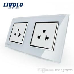 LIVOLO, Manufacturer, 16A US standard, wall electric   power double socket   plug, Crystal glass panel,VL-C7C1US-11 VL-C7C1US-11