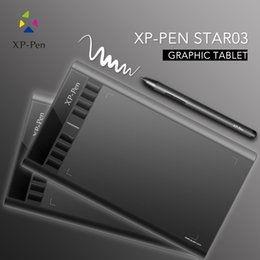 Wholesale XP PEN Star03 Graphics Drawing Pen Tablet drawing Tablet Battery free Stylus Passive Pen Signature Painting writing Board Pad with Trans