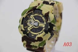 Wholesale new Fashion sports watch ga110 G Display LED Fashion army military shocking watches men Casual Watches