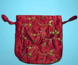 Descuento monederos de las señoras regalos Bolsas de regalo de boda Decoración de fiesta bolsas de regalo bolsas de regalo de Navidad de la boda bolsa de manera barata manijas del monedero de las señoras bordado de seda chino