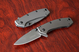 Wholesale Kershaw TI Cryo Folding Knife Hunting camping Survival knives Hinderer design titanium carbo nitride coated Dropshipping