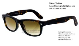 Wholesale Top quality brand new classical style acetate sunglasses Tortoise frame brown gradient glass lens women dress gafas de sol