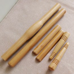 Wholesale 6pcs set Eco friendly Bamboo Massage Poles Sticks Water proof Massager Massage Stick Wooden Craft