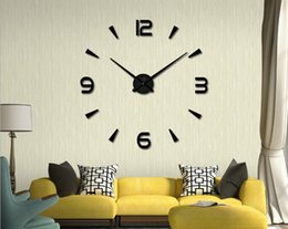 Wholesale 3D Acrylic Mirror Wall Stickers Creative Clock DIY Large Size EVA Mirror Watch Clock Home Decoration