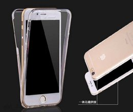 Super Soft thin TPU Silicone 360 Full Protective front + back Cover for iPhone 6 6s plus with screen touch