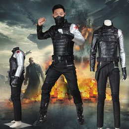 Apparel Captain America 2 Winter Soldier James Buchanan Bucky Barnes Cosplay Costume Da Supereroe Halloween Party Chrismas