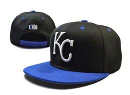 Descuento sombreros de los deportes de la ciudad 2016 de la moda de los Reales de Kansas City snapback de las gorras de béisbol ajustable detrás los sombreros de los Snapbacks Negro Alta Calidad jugadores de los deportes envío libre