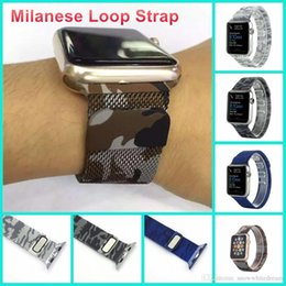 Wholesale New Sea And Air Colors Magnetic Milanese Loop Watch Band Stainless Steel Bands Strap For Apple Watch mm mm Strap VS DZ09 GT08