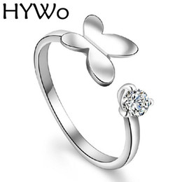Double Heart angel Zircon 925 Sterling Silver Rings with Women Wedding & Party Fashion Rings Fit Pandora open design Customizable Wholesale