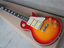 Electric Guitar with 3 Open Pickups,Cherry Sunburst Body,Flame Maple Veneer and can be customized