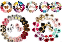 Wholesale Fashion Suede PU Leather Infant Toddler Newborn Baby First Walkers Crib Moccasins Soft Moccs Shoes Footwear