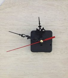 Wholesale Quartz Clock Kit Movement Wall Amounted Mechanism DIY Repair Parts Tool Hand Work Spindle Mechanism Red Black Hands