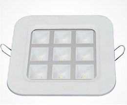 Factory Wholesale Price square 9*1W recessed Led Grille Led ceiling light Led down light Led lattice light,size:150mm*150mm