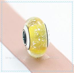 5pcs 925 Sterling Silver Screw Core Belles Signature Color Fluorescence Murano Glass Bead Fit European Pandora Charm Jewelry Bracelets