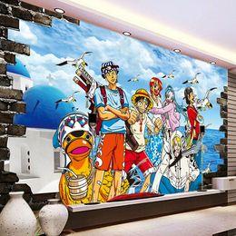 One Piece Photo wallpaper Custom 3D Wallpaper Japanese anime Wall Murals Cartoon Kids Bedroom TV backdrop wall Art Room decor Monkey D Luffy