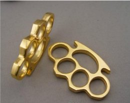 Wholesale 2016 Brand New Thick steel Brass knuckle dusters Self Defense BRASS KNUCKLES KNUCKLE DUSTER