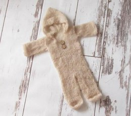 Beige color Mohair baby overall Handmade knitted baby diaper Newborn baby romper mohair baby diaper Baby Photography Prop