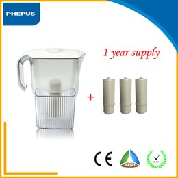 Wholesale Hot sell home use tabletop Fashion plastic housing and white color water filter pitcher AS material with filter cartridge