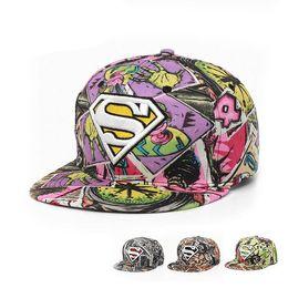 Wholesale 2016 Vogue Statue of Liberty graffiti hip hop hat gorras planas flat hats Sport baseball caps Diamond superman snapback hats