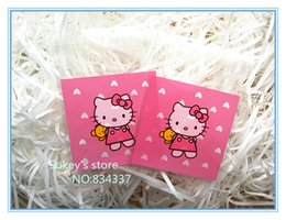 Wholesale 200pcs new product pink hello kitty plastic packaging bags x7cm samll cookie bags food packing bag