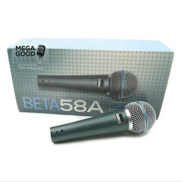 Wholesale Sale Top Quality Version Beta a Vocal Karaoke Handheld Dynamic Wired Microphone BETA58 Microfone Mike Beta A Mic Mic free mikrafon