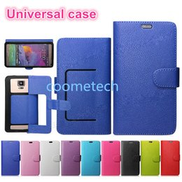 Wholesale Universal Leather case Wallet Phone Case With Card Slots Filp Holder Folio Cover For Samsung s6 note case with DHL free