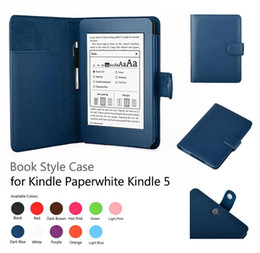 Wholesale Luxury Flip PU Leather Case Smart Cover With Stylus Holder Stand For Amazon Kindle Paperwhite