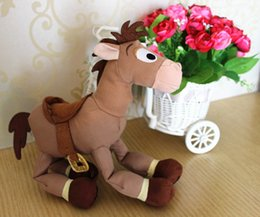 Wholesale cm inch toy story Red star horse Bullseye horse Cartoon plush and stuffed baby soft toys