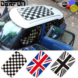Wholesale perforated mini cooper Car Roof Sticker style options R series F series exclusive size Don t need to cut