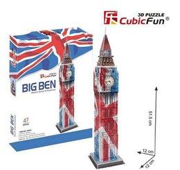 Cubic Fun DIY 3D Puzzle Building Big Ben United Kindom 47 pcs 12*12*51.5cm C094T