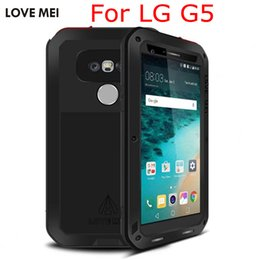 Wholesale LOVE MEI Powerful Life Aluminum Case Luxury Metal Hosuing Cover Case For LG G5 with Gorilla Glass