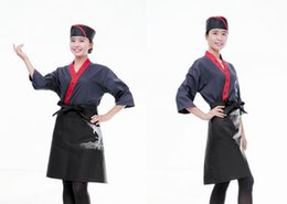 Japanese - style hotel kitchen overalls and Korea Japanese cuisine restaurant waiter uniform  embroidery