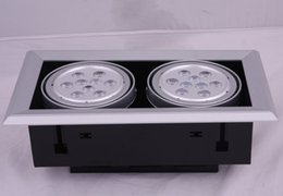 Wholesale High Quality 2 x 9W Led Ceiling Light Super Brightness 1800lm LED Beans Gall Lamps Downlights Spotlights AC85-265V Free Shipping