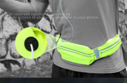 Rock New Waist bag Casual Waist Pack Sport bag Waterproof Running Bags Purse Mobile Phone Case for IPHONE pocket 100% origianl