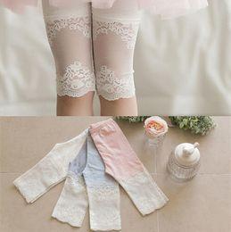 New Fashion Lace Girls Leggings Children Cotton Lace Tights Colors Children Flower Lace Leggings E970