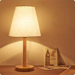 Mesa moderna habitación lámparas en Línea-Lámpara de madera de la cama de la nueva de la manera del arte nórdico de la tela