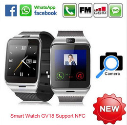 Wholesale DM New Bluetooth Smart Watch Aplus GV18 A18 For Android LG Sony Support SIM Card GSM Waterpoof Wearable Device With Camera NFC