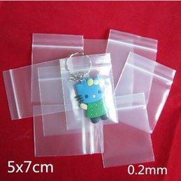 Polyuréthane plastique en Ligne-5x7cm 300pcs 0,2 mm Bijoux Ziplock Zip Serrure zippée Sacs en plastique résistant à la polyuréthane