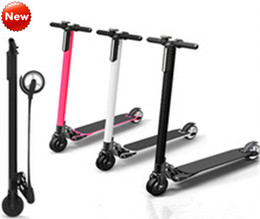 Wholesale 2016 Upgraded electric scooter the lightest carbon fiber scooter smart foldable scooter hoverboard self balancing scooter Samsung battery